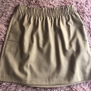 J Crew Factory Tan Sidewalk Skirt